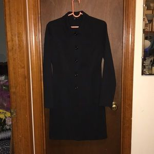 Long Button-Front Jacket